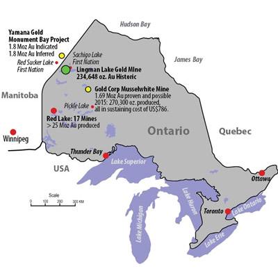 Map of Signature Resource Ltd., mines.