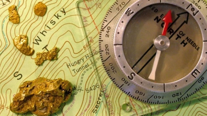 Picture of map and compass.