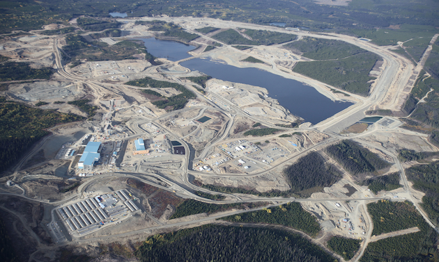 Aerial photo of Thompson Creek Metals Company Inc.'s Mount Milligan open-pit