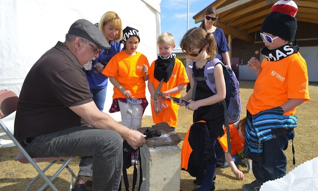 2013 Mining & Geology Discovery Camp held at Shipyards Park in Whitehorse.