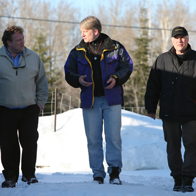 Pictured are the three co-founders of Osisko Mining (L to R): John Burzynski, president and CEO; Sean Roosen, chair of the board; and Robert Wares, executive vice-president exploration and resource development.