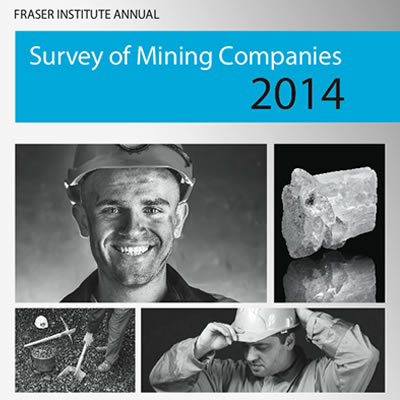 Picture of the front page of the Fraser Institute's annual Survey of Mining Companies 2014.