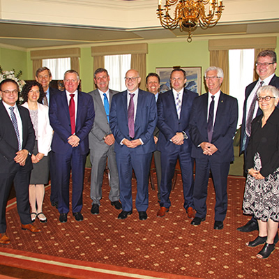 Photo taken at an innovation roundtable with Minister Carr and government officials on June 16, 2016.
