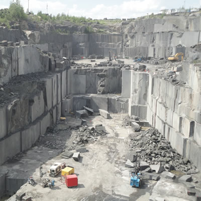 One of Polycor's North American stone quarries; the company is based in Quebec City.