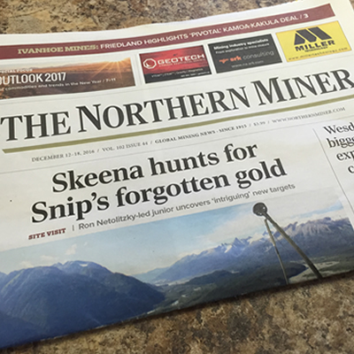 Cover of The Northern Miner newspaper.