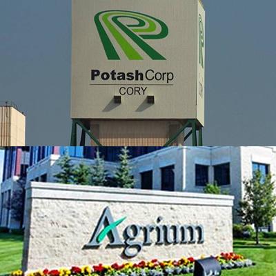 Agrium Inc., and Potash Corporation of Saskatchewan brand names, combined into collage.