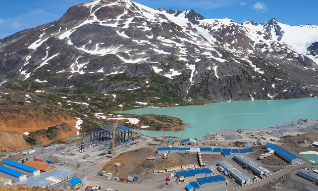 Aerial view of the Brucejack Mine in British Columbia.