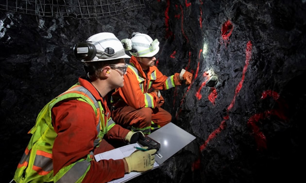 Underground testing at the Madsen Gold Project.