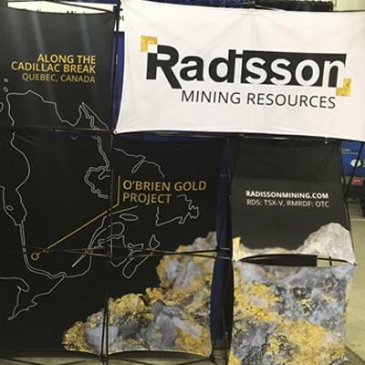Radisson Mining table at a Mining Show.
