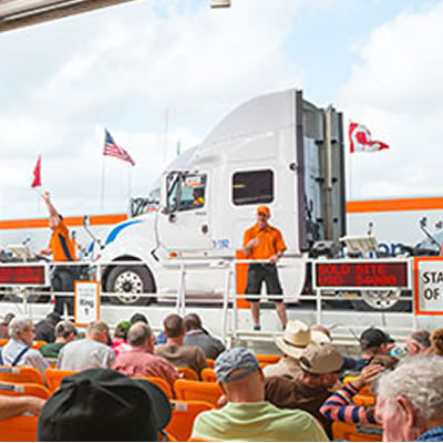 Picture of Ritchie Bros. auction.