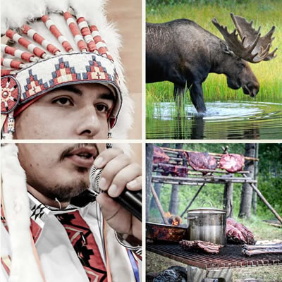 Picture collage of Salteau First Nations images.