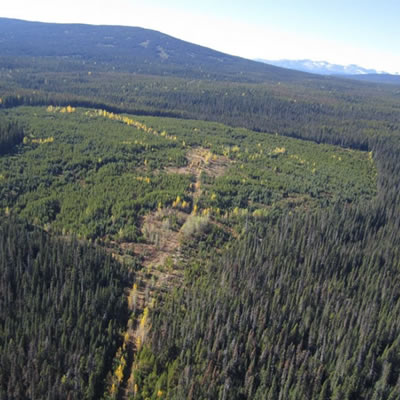 An aerial view of the Silver Vista project in northern British Columbia.