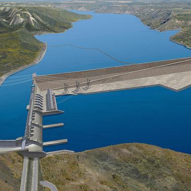 Artist rendering of the Site C dam