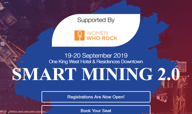 smart mining logo and date