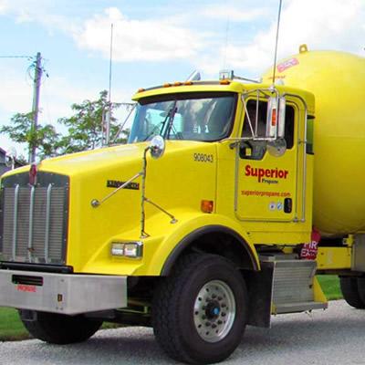 Superior Propane truck.