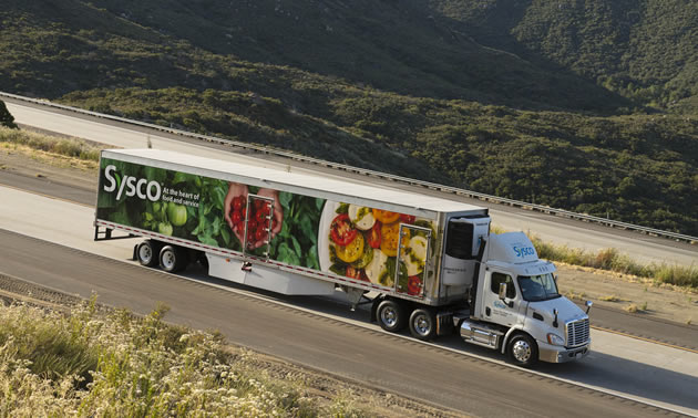 Sysco delivers groceries.