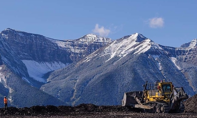 Teck mine with a truck in foreground