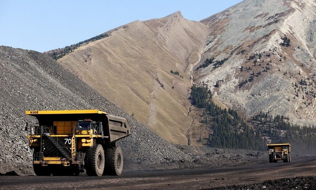 trucks operating at the teck mine