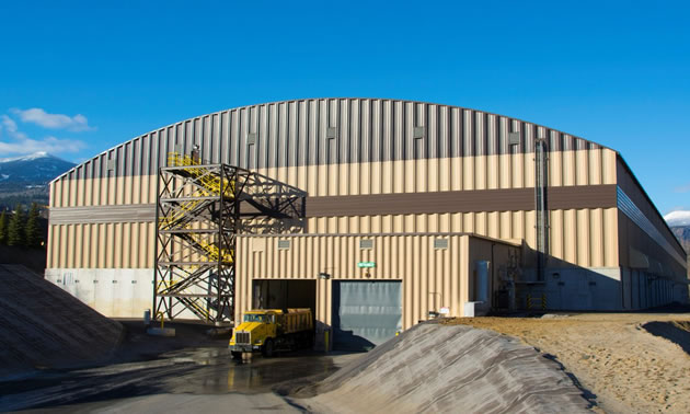 The newly completed Smelter Recycle building at Teck's Trail operation.