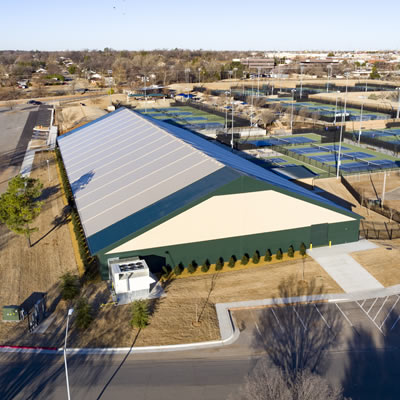 The new OKC Tennis Centre constructed by Legacy Building Solutions.