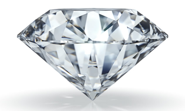 Pictured is a high end diamond from Tiffany's.