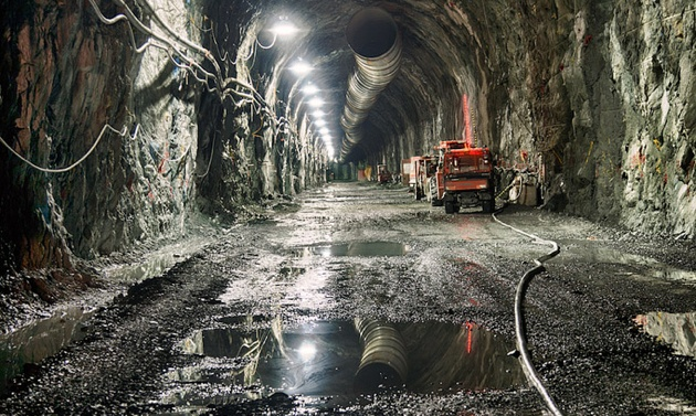 The main power tunnel at AltaGas' Forrest Kerr run-of-river hydroelectric project in northwest B.C.