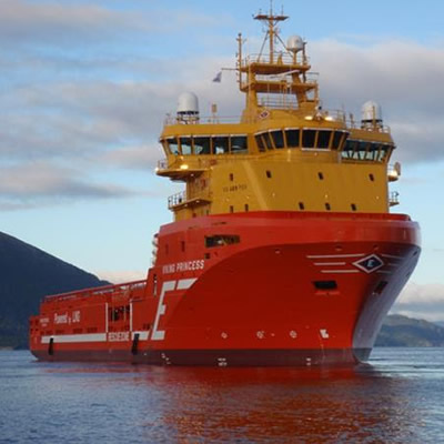 The Viking Princess is a state-of-the-art offshore supply vessel designed to safely service offshore installations in the extremely harsh waters of the North Sea.