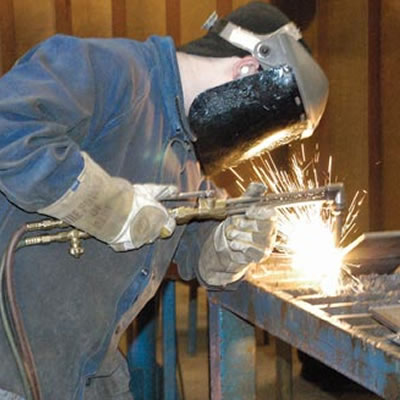 Picture of person welding.