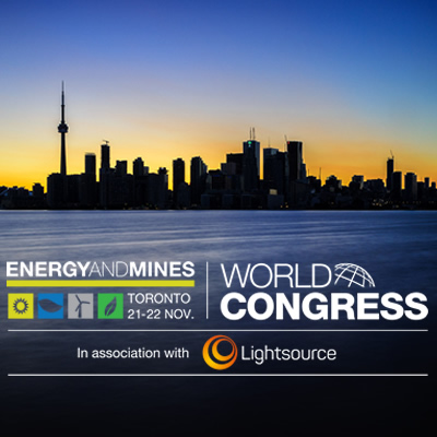Graphic of the Energy and Mines World Congress Summit.