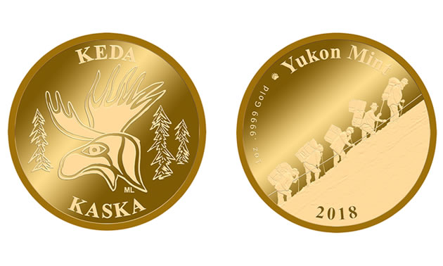The first Yukon Mint Gold Coin — the Kaska Keda Gold Coin.